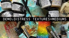 Tim Holtz Stamps, Alcohol Ink Crafts, Mixed Media Scrapbooking, Glue Book, Distressed Texture, Collage, 1 Live, Distress Oxide Ink, Colouring Techniques