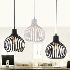 Retro Pendant Lights Industrial cage lamp Edison Lamps industrie hanglampen Loft light American Style metal lampshade Fixtures-in Pendant Lights from Lights & Lighting on Aliexpress.com | Alibaba Group