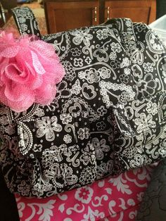 Paisley Parade Cargo Bag with pink rosette