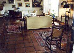 love the tile floors, rugs.