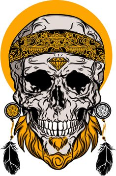 Skull's Drunk by Ezequiel Calvario, via Behance