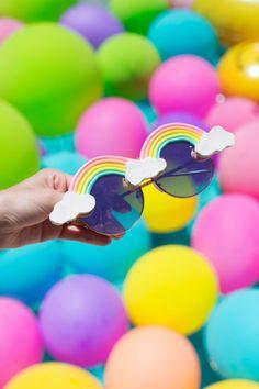 DIY Rainbow Sunglasses | studiodiy.com