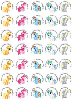 35-x-My-Little-Pony-inspired-Labels-37mm-Stickers-Party-bag-sweet-cones-seals
