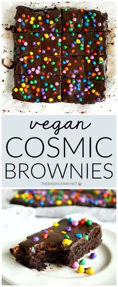 vegan homemade cosmic brownies | The Baking Fairy