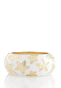 Enamel Starfish Bangle Bracelet Color Cato Fashions #catosummerstyle