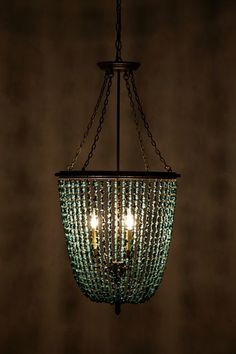 Turquoise Rivulets Chandelier - anthropologie.com