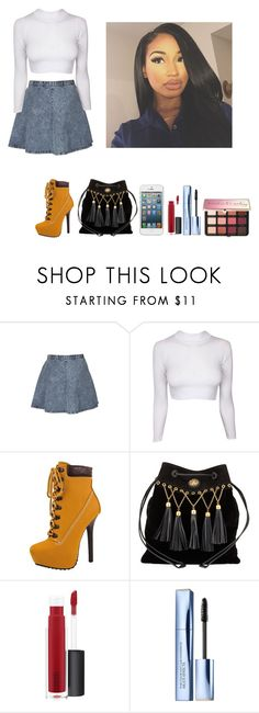 """""""-Glo Queen"""" by krissyk-15 on Polyvore featuring Topshop, Dollhouse, Miu Miu, John Lewis, Estée Lauder and Sephora Collection"""