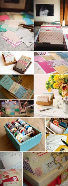 rolodex guestbooks. get a tin or wood box + lid