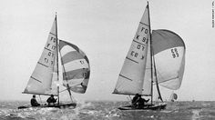 Sailing at the 1964 Flying Dutchman World Championships, photo courtesy of Eileen Ramsay.
