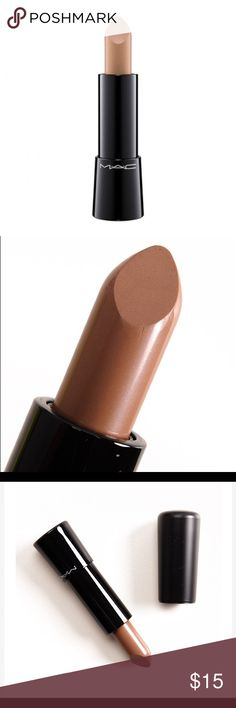 """MAC Touch the Earth Mineralize Rich Lipstick MAC Touch the Earth Mineralize Rich Lipstick is described as a """"light wood brown."""" It's a muted, light-medium beige-brown with warm, yellow undertones and a soft shine.   New, never used. I accidentally swiped the tip with my nail while taking the picture :(  ✨ Sorry, no trades but will consider all reasonable offers. MAC Cosmetics Makeup Lipstick"""