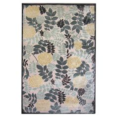 Lanart Moon Lily Win.ter 5 ft. x 7 ft. 6 in. Area Rug MOONL5X8WI