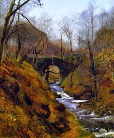 John Atkinson Grimshaw - Ghyll Beck, Barden, Yorkshire