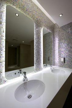 Designed by Chirag Naik Beach Club Ada Bathroom, Office Bathroom, Bathroom Toilets, Washroom Design, Toilet Design, Commercial Toilet, Public Bathrooms, Toilet Room, Small Toilet