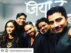 "starplus: ""#Repost @harshadaroraoficial #JiyaReUnplugged #Dahleez After the live feed with @superbia @starplus @tridhac"""