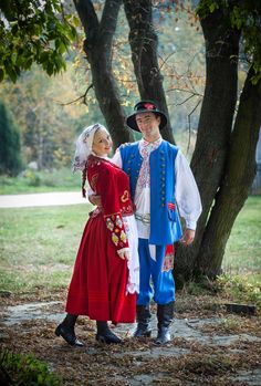 Regional costumes from Rzeszów, Poland.