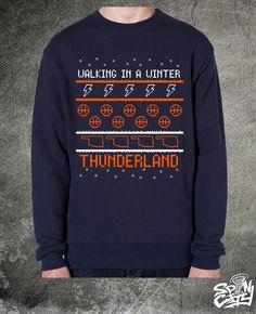 OKC Thunder Tacky Winter Sweater - Navy