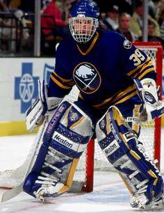 Dominik Hasek, former Buffalo Sabres goalie - NHL Hockey Hall of Fame Hockey Goalie, Hockey Games, Ice Hockey, Goalie Gear, Hockey Logos, Montreal Canadiens, Hockey Hall Of Fame, Hockey Season, Goalie Mask