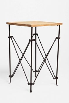Wood Accordion Side Table | Urban Outfitters