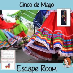 Cinco de Mayo Escape Room Game This is a fun game that is perfect for teaching children about the Cinco de Mayo. This game focuses on students finding out facts and information and using these to solve puzzles. This helps them to learn about Cinco de Mayo