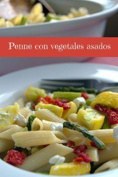 Penne con vegetales asados