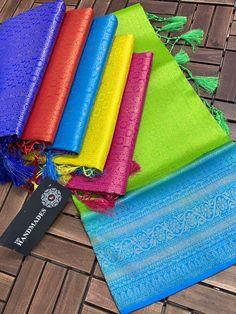 Saree Kuchu Designs, Brocade Blouses, Fancy Sarees, Weaving Patterns, Beautiful Saree, Saree Blouse, Card Holder, Colours, Pretty