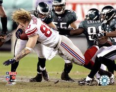 Jeremy Shockey. To me he was very overrated. Had some early success and got a big head from the media hype. Giants were happy to get rid of him. He went to New Orleans and did not impress Dre Brees or the staff. He was hit hurt and they win the Superbowl with him in the booth, and they got rid of him as well.