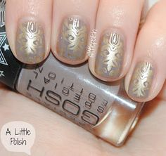 A Little Polish: GOSH - With a Twist & Stamping!
