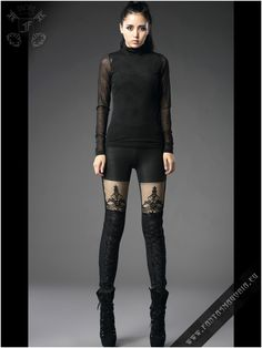 Charming warm alternative to our classic Macbeth leggings (K-144). The leggings are made from stretchy snake skin pattern fabric. The lining is made of