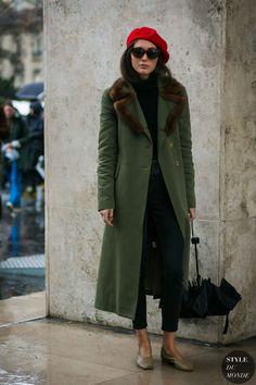 Paris Fashion Week Fall 2017 Street Style: Diletta Bonaiuti