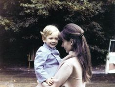 Audrey with son Sean, 1964.