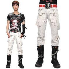 Buy Cool Men Punk Rock and Goth Fashion Casual Pants Trousers Shops SKU-11404120
