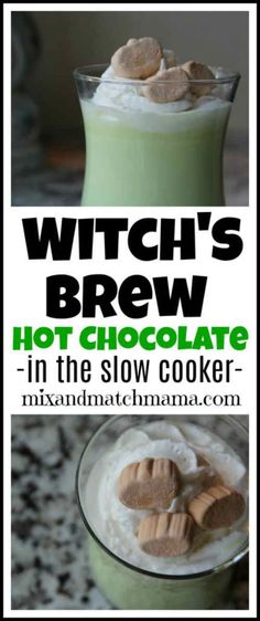Slow Cooker Witch's Brew Hot Chocolate