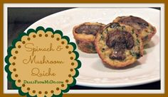 Spinach and Mushroom Quiche is a combination of healthy, good for you ingredients that's full of nutrition, low in carbohydrates, and diabetic friendly.