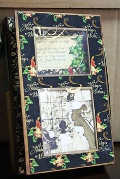 Beautiful Altered Art Box by Nancy Wethington! Holiday cheer is here. #graphic45 #alteredartbox
