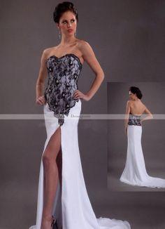 21d27a154c2 Elegant Sheath Column Sweetheart Chapel Split-Front Wedding Dresses  Celebrity Wedding Dresses