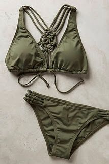 2020 Women Trends in: Boho Chic: Swimwear. LOVE this bathing suit, the color and Cute Swimsuits, Cute Bikinis, Lingerie, Bikini Verde, Summer Outfits, Cute Outfits, Cute Bathing Suits, Resort Wear, Bikini Fashion