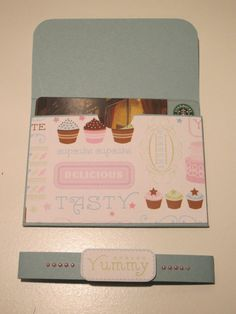 Cupcake Gift Card Holder by SuesCraftCorner on Etsy