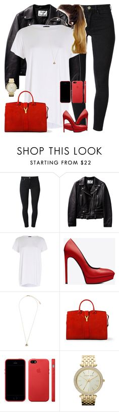 """""""Untitled #1539"""" by i-am-leia ❤ liked on Polyvore featuring Acne Studios, River Island, Yves Saint Laurent, Topshop and Michael Kors"""