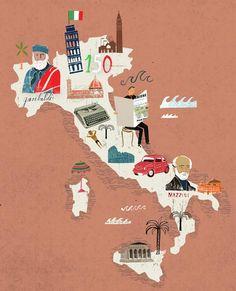 Martin Haake - Map of Italy