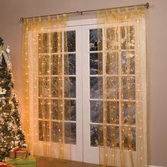 Pre-Lit Curtain Panel | Christmas Decor | Brylanehome