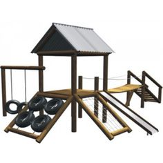 Diy Playground, Playground Design, Outdoor Fun For Kids, Backyard For Kids, Backyard Projects, Backyard Swing Sets, Kids Play Area, Play Houses, Google Search