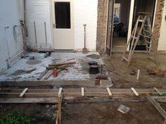 15-10-2015. De fundering wordt deze week gestort voor de uitbouw van de woonkamer.
