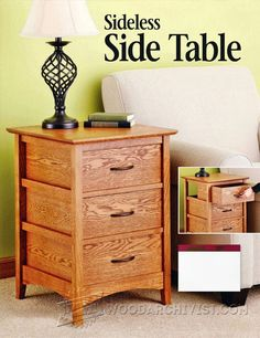 Sideless Side Table Plans - Furniture Plans and Projects   WoodArchivist.com