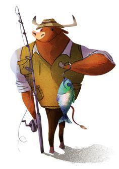 bull- character design illustration on Behance