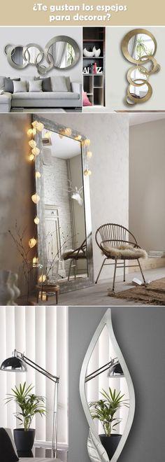 Ideas para decorar con espejos. Espejos decorativos. Decoración con espejos. Espejos artísticos.
