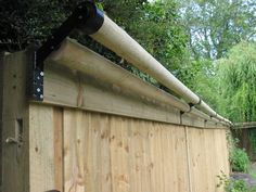 cat proof fencing Double Pole Example