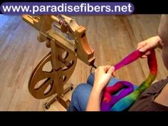 Learn the basics of spinning on a spinning wheel with Rachel & the Paradise Fibers Production Wheel. You'll learn a brief overview of scotch tension/single d...