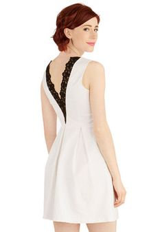 To Your Benefit Dress. Raising funds for your favorite local charity has never looked as good as when you took the stage in this white dress! #white #modcloth