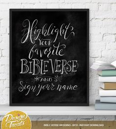 Wedding Printable - Highlight Your Favorite Bible Verse and Sign Your Name Sign