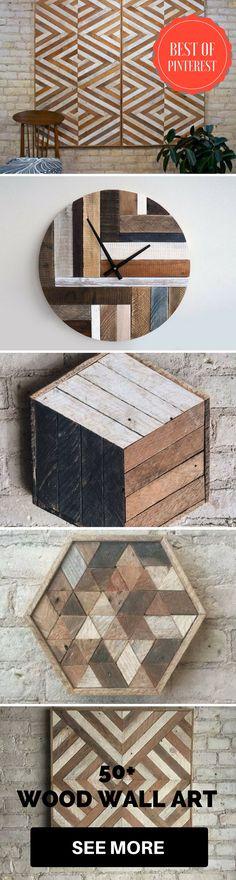 50+ wood wall art Inspiration (Best of pinterest) #wood #art #wall #graphics #patterns #geometric #design